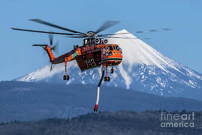 Spot Of Tea Royalty Free Images - S-64 Skycrane Royalty-Free Image by Rick Mann