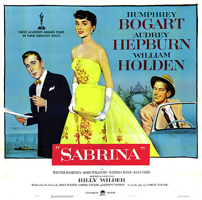 Royalty-Free and Rights-Managed Images - Sabrina with Humphrey Bogart and Audrey Hepburn, 1954 by Stars on Art