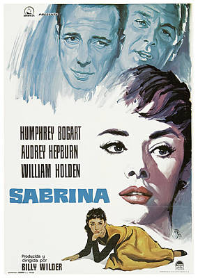 Royalty-Free and Rights-Managed Images - Sabrina, with William Holden and Audrey Hepburn, 1954 by Stars on Art