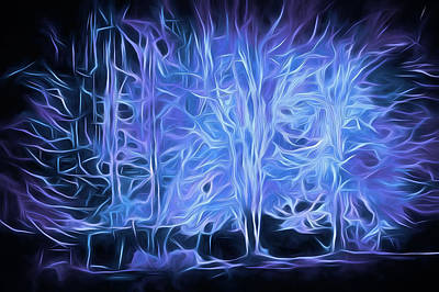 Mixed Media Royalty Free Images - Sacred Forest Energies18 Royalty-Free Image by Lynda Lehmann