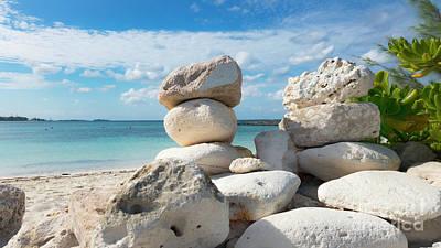Minimalist Movie Quotes - Sacred space at Paradise Beach Atlantis Bahamas by Dejan Jovanovic