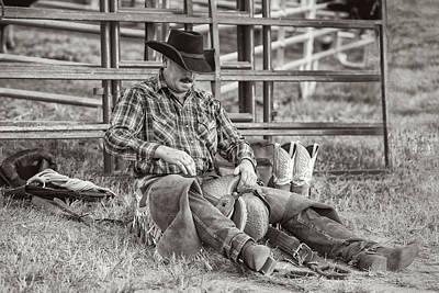 Mellow Yellow - Saddle Bronc Cowboy by Fon Denton