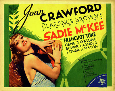 Royalty-Free and Rights-Managed Images - Sadie McKee with Joan Crawford, 1934 by Stars on Art