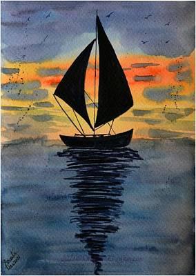 Outdoor Graphic Tees - Sail Boat 5 by Sonali Gangane