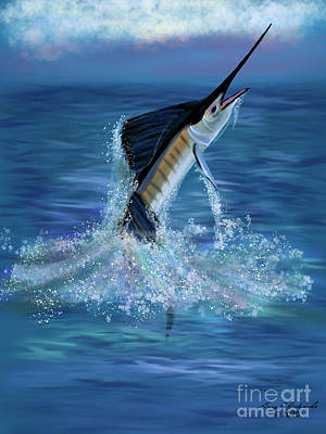 Royalty-Free and Rights-Managed Images - Sailfish Jump by Gary F Richards