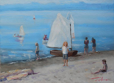 Painting - Sailing Camp by Ron Wilson