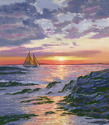 Royalty-Free and Rights-Managed Images - Sailing Home by David Lloyd Glover