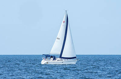 Photograph - Sailing in the Blue by Gary Wightman