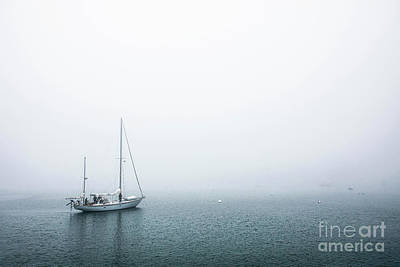 Curated Beach Towels - Sailing Into the Fog by Diane Diederich