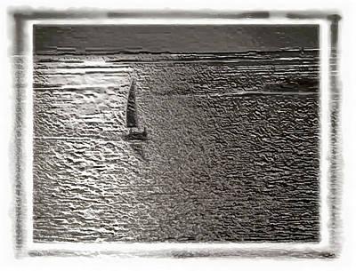 Transportation Digital Art - Sailing on Silver Seas by Mario Carini