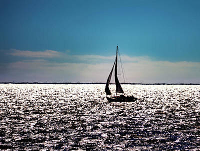 Jolly Old Saint Nick - Sailing Sabine Lake by Jerry Connally