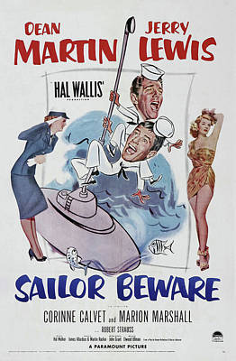 Royalty-Free and Rights-Managed Images - Sailor Beware, with Dean Martin and Jerry Lewis, 1952 by Stars on Art