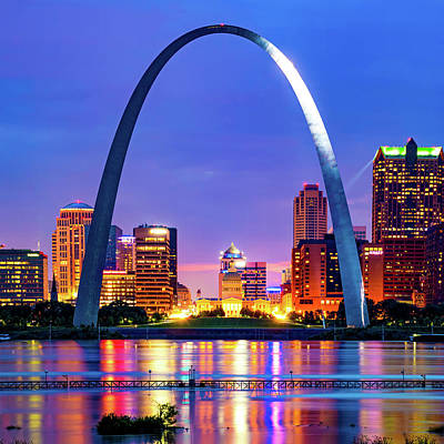 Royalty-Free and Rights-Managed Images - Saint Louis Skyline and The Iconic Gateway Arch by Gregory Ballos