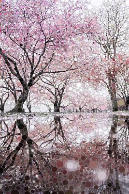 Animal Paintings David Stribbling - Sakura Spring Pink by Susan Maxwell Schmidt