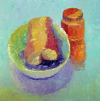 Painting - Sally's Baguette  by Terry Chacon