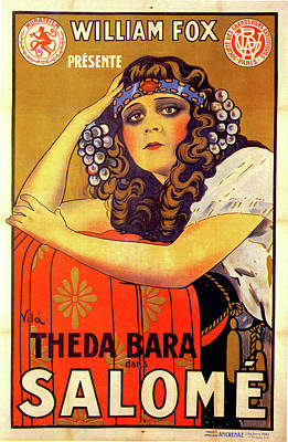 Mixed Media Royalty Free Images - Salome movie poster 1918 Royalty-Free Image by Stars on Art