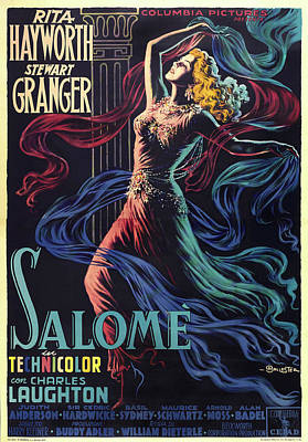 Mixed Media Royalty Free Images - Salome, with Rita Hayworth and Stewart Granger, 1953-b Royalty-Free Image by Stars on Art