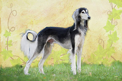 Clouds Royalty Free Images - Saluki - DWP13019 Royalty-Free Image by Dean Wittle