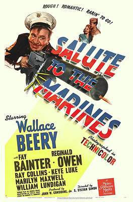 Caravaggio - Salute to the Marines with Wallace Beery, 1943 by Stars on Art