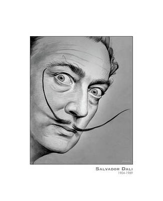 Surrealism Drawings Royalty Free Images - Salvador Dali Royalty-Free Image by Greg Joens