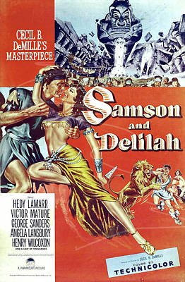 Royalty-Free and Rights-Managed Images - Samson and Delilah 2, with Hedy Lamarr and Victor Mature, 1949 by Stars on Art