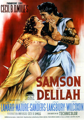 Granger - Samson and Delilah 3, with Hedy Lamarr and Victor Mature, 1949 by Stars on Art