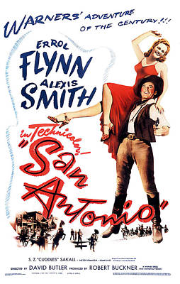 Granger - San Antonio 2, with Errol Flynn and Alexis Smith, 1945 by Stars on Art