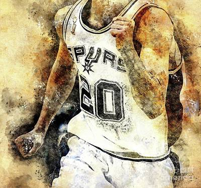 Fruits And Vegetables Still Life - San Antonio Spurs Basketball NBA Team, Basketball Player, Sports Posters for Fans by Drawspots Illustrations