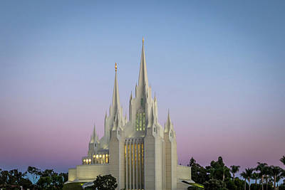 Photograph - San Diego Temple by Dallas Golden