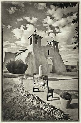Clouds Rights Managed Images - San Francisco de Asis BW Royalty-Free Image by Jeffrey Kolker