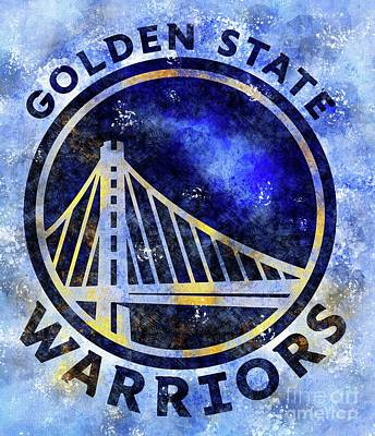 Royalty-Free and Rights-Managed Images - San Francisco Golden State Warriors Basketball Team,Sports Posters by Drawspots Illustrations
