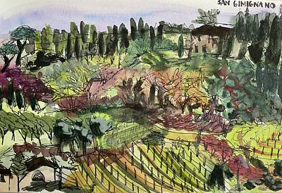 Painting - San Gimignano by Meredith Palmer