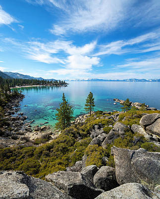 Royalty-Free and Rights-Managed Images - Sand Harbor Rocky Lookout by Brad Scott