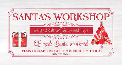 Royalty-Free and Rights-Managed Images - Santas Workshop by Debbie DeWitt
