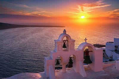 Guns Arms And Weapons - Santorini Sunset by Evgeni Dinev