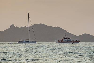 Royalty-Free and Rights-Managed Images - SAR Boat Bodrum Turkey by David Pyatt