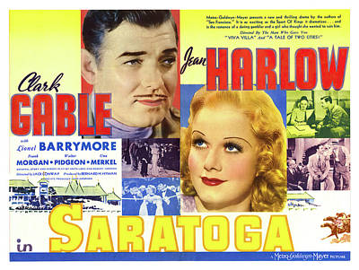Caravaggio - Saratoga, with Clark Gable and Jean Harlow, 1937 by Stars on Art