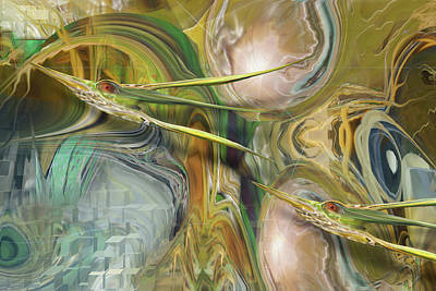 Surrealism Royalty-Free and Rights-Managed Images - Saturation Twins by Steve Sperry