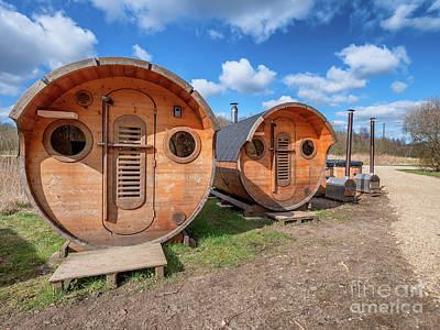 American Milestones - Sauna and wilderness bath, woodfired in Skjern meadows, Denmark by Frank Bach