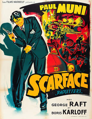 Kim Fearheiley Photography - Scarface 2, with Paul Muni and George Raft, 1932 by Stars on Art