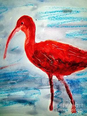 Old Masters - Scarlet Ibis  by Rose Elaine