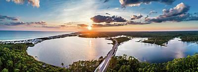 Photograph - Scenic 30A Sunset Over Western Lake by Kurt Lischka