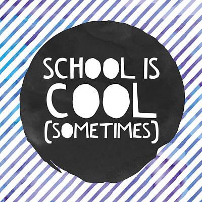 Studio Grafika Vintage Posters - School is Cool by Brandi Fitzgerald