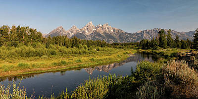 Lovely Lavender - Schwabacher Landing in the Early Morning by Tony Hake