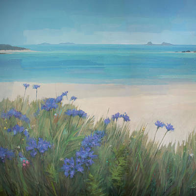 Painting - Scillies Beach by Steve Mitchell