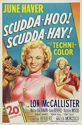 Popstar And Musician Paintings - Scudda-Hoo Scudda Hay - 1948 by Stars on Art