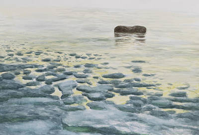 Painting - Sea Ice Melting in Spring by Hans Egil Saele