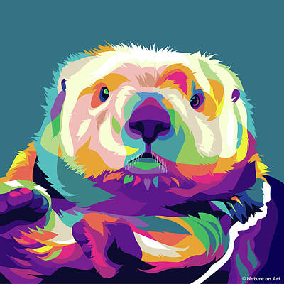 Royalty-Free and Rights-Managed Images - Sea Otter by Stars on Art