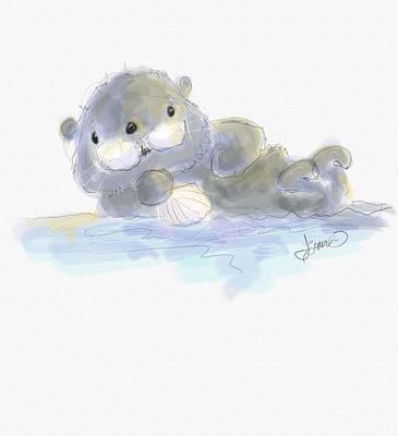 Digital Art - Sea Otter by Terri Einer