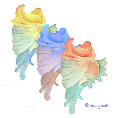 Painting - Sea Shells in Beach Colors by Jo Lynch